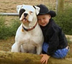 "Rocky Mountain Rawhide ""Levi"" and young friend"